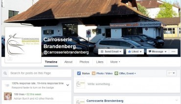 Carrosserie Brandenberg Facebookseite